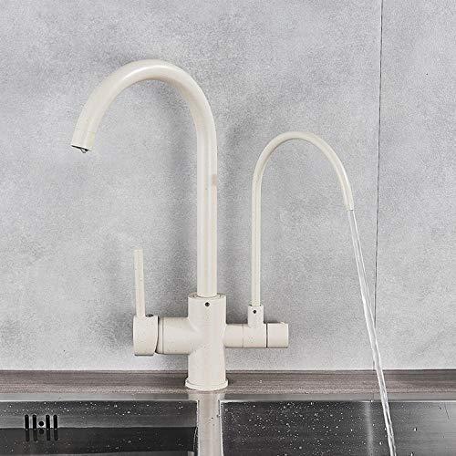 Waterkraan filter keukenarmaturen 360 omdraaiing schoonmaken eigenschappen drinkwater kraan mengkraan - dubbele uitloop warm en koud water