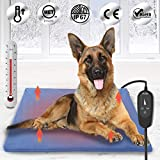 Upgraded Pet Heating Pad for Dogs Cats with Timer,29.5'x17.7' Safety Cat Dog...