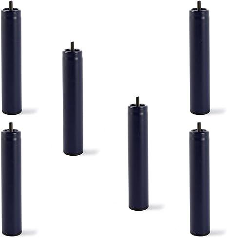 HOGAR24 6 Patas de somier ó Base tapizada, metálicas, cilíndricas con Rosca 25,5CM