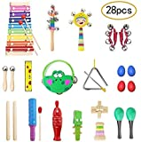 TOPERSUN Gift of Child 28Pcs Musical Toys Strumenti musicali Set di percussioni piccolo St...