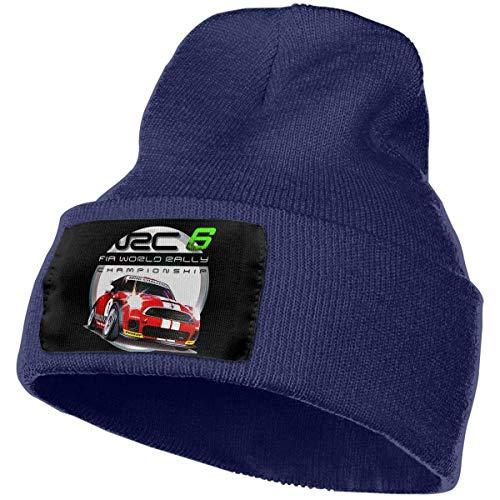 AOOEDM Hombres y Mujeres WRC 6 Fia World Rally Championship Skull Beanie Sombreros Gorros de punto de invierno Sombrero de esquí suave y cálido Negro