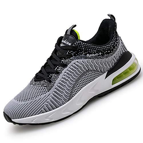 DimaiGlobal Zapatillas Running para Hombre Deportivas Air Zapatos para Correr y Asfalto Deportes Calzado Transpirables Gimnasio Sneakers Antideslizantes Ligeras Atletismo
