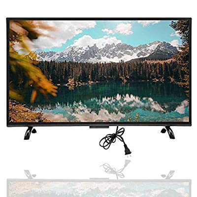 Mugast 32 Inch Smart Curved TV,1920x1200 300cd/m2 3000R Curvature VGA/AV/USB/HDMI/RF/WiFi 4K HDR Home Television Display Screen with Artificial Intelligence Voice for PC(US)