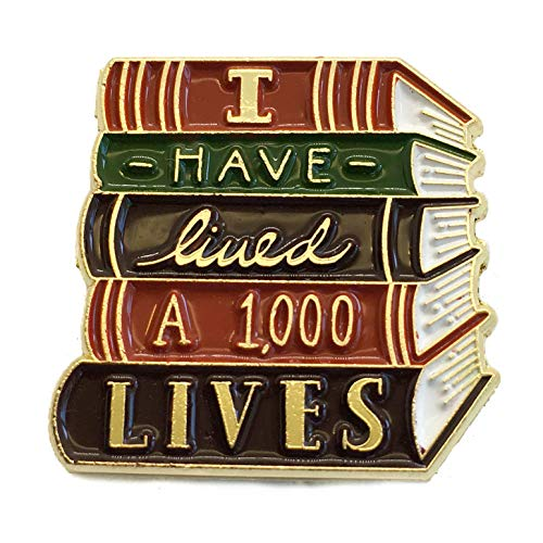 Ectogasm 100150'I Have Lived A Thousand Lives' Book Enamel Pin in Gold