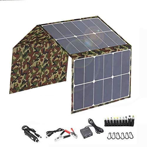 120W 18V Panel Solar Plegable Portátil Sistema De Panel Solar Impermeable Y Móvil Cargador Solar Sistema De Carga para Camping Móviles Y Portátiles