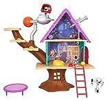 Mattel GDL88 - Disney Das Haus der 101 Dalmatiner Dylans Baumhaus Spielset mit Dylan und Dolly, Spielzeug ab 5 Jahren -