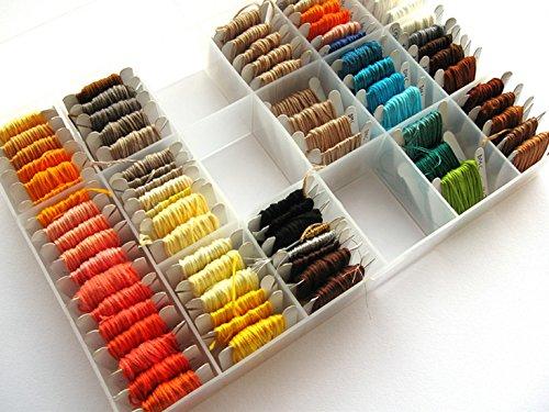 2AINTIMO Box voor borduurgaren TÜR strengen Mouline Embroidery, schroefdraad opbergdoos - voor borduurgaren TÜR strengen Mouline Embroidery, schroefdraad opbergdoos