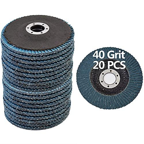 Flap Discs 4.5 Inch - 40 Grit Grinding Discs 4 1/2 Assorted Sanding Grinding Wheels,Aluminum Oxide Abrasives,Grinder Disc,Blue