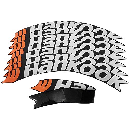Rueda de neumático de coches 3D STCIKER UNIVERSAL AUTOMÁTICO AUTOMÁTICO Neumáticos Neumáticos Pegatinas Pasta de ruedas de estilo de coche personalizado Letras Decoración ( Color Name : HANKOOK )