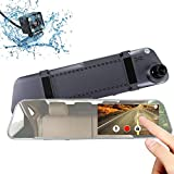 ANCARLEELA Mirror Dash Cam( 2nd Gen) 5 Inch Touch Screen Dash Camera Front and Rear Dash cam 1080P HD with G-Sensor, Night Vision, Reversing Camera, Parking Monitor 170° Wide Angle Video Recorder
