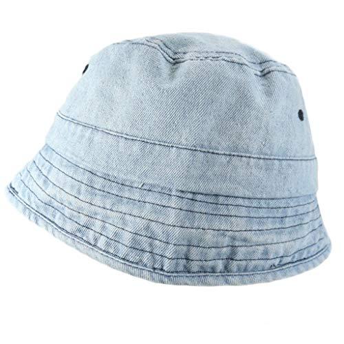 6Wcveuebuc Estilo Japonés Mujeres Hombres Vintage Lavado Denim Bucket Hat Harajuku Hip Hop Protector Solar Al Aire Libre Senderismo Packable Panamá Pescador Cap