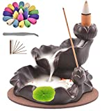 TMINCK Waterfall Incense Burner, Ceramic Backflow Incense Holder...