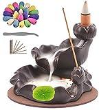 TMINCK Waterfall Incense Burner, Ceramic Backflow Incense Holder...