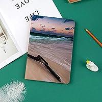 Ipad Pro 11 ケース(2018モデル) 軽量 薄型2つ折スタンド オートスリープ機能付き 全面保護 2018秋発売のiPad Pro 11に対応 スマートカバー夕焼けのデジタル画像で人けのないビーチに海のテーマ流木