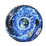 VicTop 47'/120CM Inflable Nieve Tubo Trineo para Niños y Adultos, Tarea Pesada Trineo de Nieve con Asas , Antiarañazos, Ideal para La Diversión de Invierno Al Aire Libre