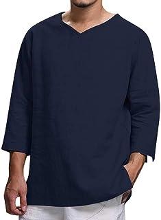 Amazon.es: Camisa De Seda - Azul / Hombre: Ropa