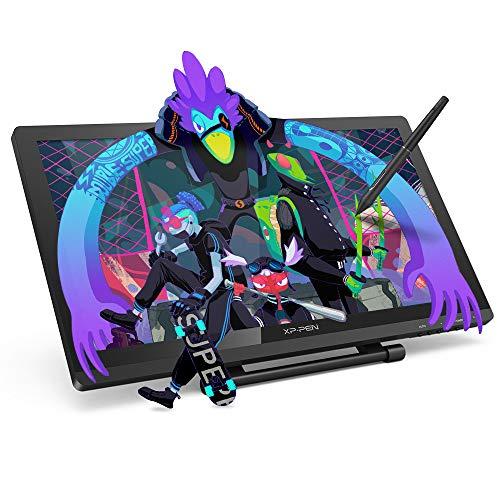 XP-PEN Artist 22 Pro Grafiktablett, mit 21,5 Zoll HD IPS 1080x1920 Display, 8192 Druckstufen, mit 2 auflabare Stift, Verstellbarer Ständer kostenlosem Zeichenprogramm