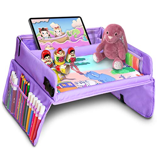 Product Image of the Kids Travel Tray, Kids Art Set, 16 x 13 inches Travel Art Desk for Kids,...