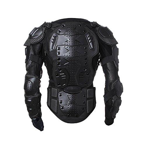 Goldfox Men's Motorbike Motorcycle Protective Body Armour Armor Jacket Guard Bike Bicycle Cycling Riding Biker Motocross Gear Black(XXX-Large)