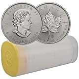 2020 CA 1 oz Silver Maple Leaf Lot of (25) Coins Brilliant Uncirculated by CoinFolio $5 BU