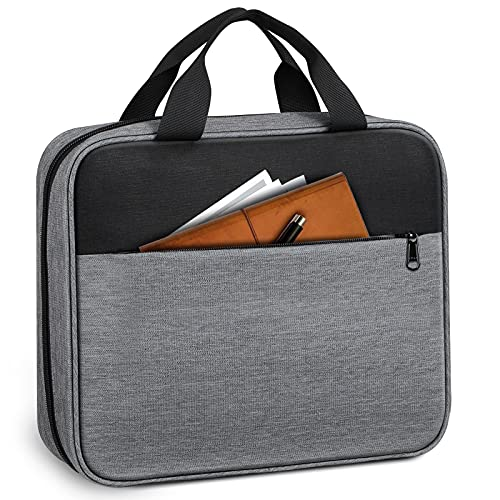 FINPAC Large Bible Cover, Carrying Book Case Church Bag Bible Protective with Handle and Zippered Pocket, Perfect Gift for Men Women Father Kids (Gray)