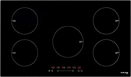 36 Inch Built-in Induction Cooktop, GASLAND Chef IH90BF 240V Electric Induction Hob, Drop-in 5 Burner Induction Stovetop, 9 Power Levels, Sensor Touch Control, Child Safety Lock, 1-99 Minutes Timer