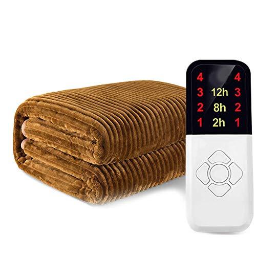Elektrische Heizdecke Mit Sicherheitssystem, Wärmeunterbett, Überhitzungsschutz, Einfache Fixierung Auf Bett Und Matratze,200 * 180cm