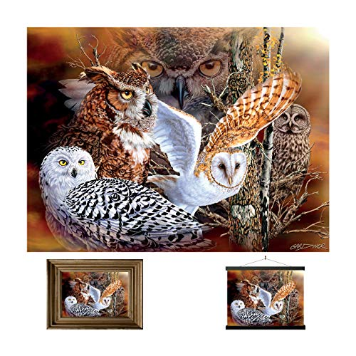 3D LiveLife Lenticular Wall Art Prints - Owl Woods, Unframed 3D Owl Poster from Deluxebase, a perfect wall filler. Original artwork licensed from renowned artist, Michael Gardner!