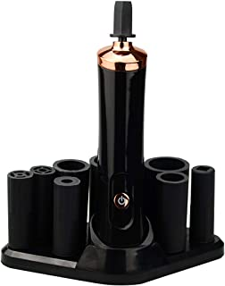 Qeelasee Eyelash glue decanter Beautiful ciliary glue shaker glue god tool Small fully automatic electric shaker (Black)