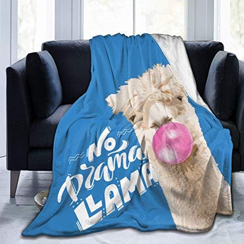 No Dama Llama - Manta para sofá o Cama de 50 x 40 Pulgadas