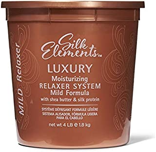 (Mild) - Silk Elements Luxury Moisturising Relaxer System With Shea Butter and Silk Protein 1.8KG Hair Straightening Thera...