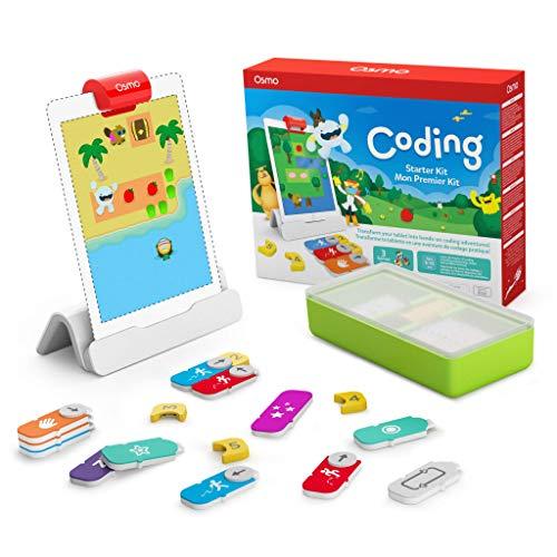 Osmo - Starter kit per iPad 3 giochi di apprendimento pratici - età 5-10+ - Imparare a codificare, codificare le basi e codificare puzzle - Base iPad inclusa, 901-00039