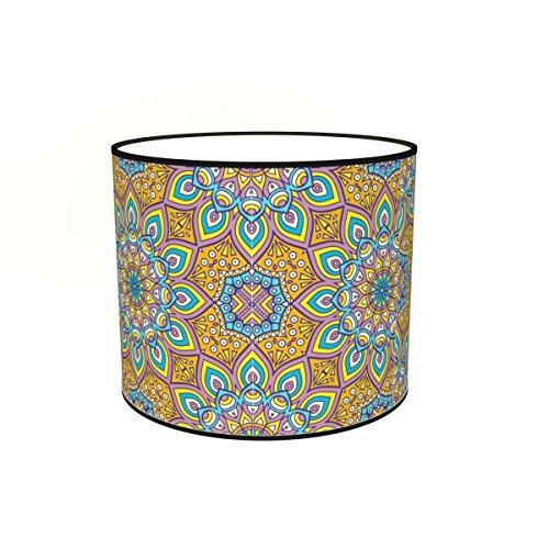 Abat-jours 7111309346737 Conique Imprimé Teva Lampadaire, Tissus/PVC, Multicolore