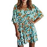 Abito da Donna Americana Stampa Manica Corta Casual Slim Sexy Fashion Plus Size Dress X-Large
