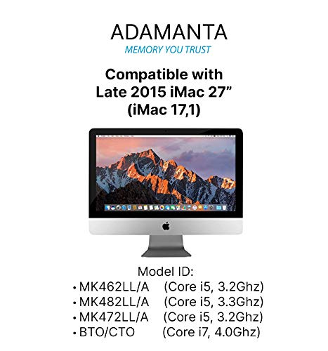 "Adamanta 32GB (4x8GB) Apple Memory Upgrade Compatible with Late 2015 iMac 27"" Retina 5K Display DDR3/DDR3L 1867Mhz PC3L-14900 SODIMM 2Rx8 CL13 1.35v RAM DRAM Maine"