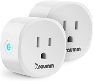 BRAUMM WiFi Smart Plug (2 Pack), ETL Listed Smart WiFi Plug Outlet Timer Compatible with Alexa and Google Assistant Voice Control