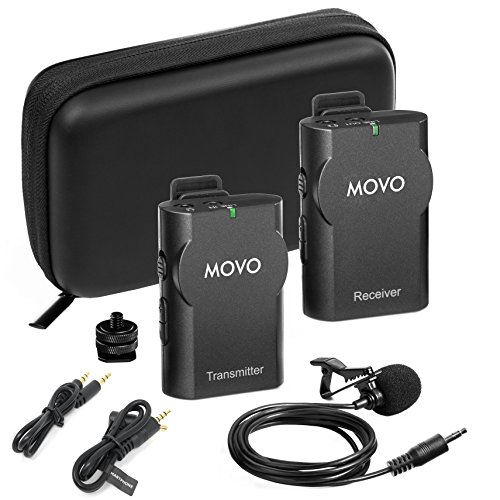 Movo WMIC10 2.4GHz Wireless Lavalier Microphone System