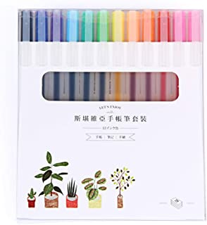 Color Gel Pens for Writing,Extra Fine 0.38mm Ballpoint,Office & School Stationery Supplies Pens of Japanese Style,12 Coun...