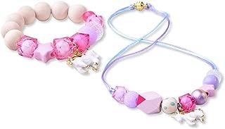 Unicorn Necklace and Unicorn Bracelet - Pink