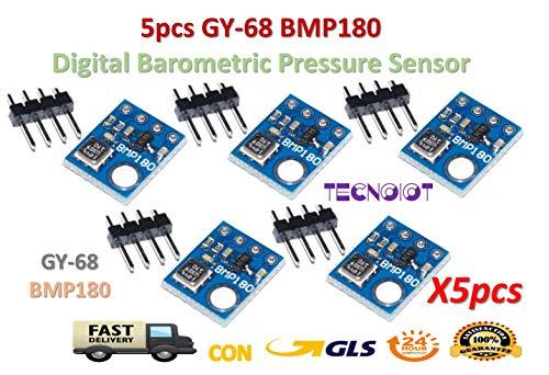 TECNOIOT 5pcs GY-68 BMP180 Replace BMP085 Digital Barometric Pressure Sensor
