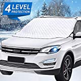 Mumu Sugar Car Windshield Snow Cover, Car Windshield Snow Ice Cover with 4...
