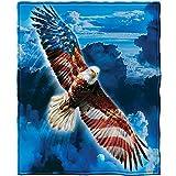 Super Soft Full/Queen Size Plush Fleece Blanket, 75' x 90' (American Eagle)