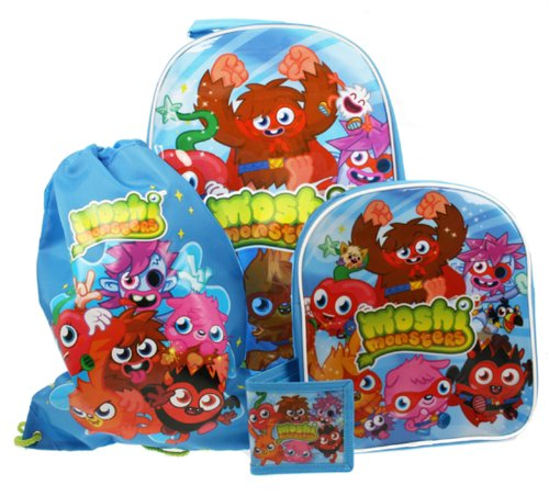 Moshi Monsters 4 Piece Luggage Set