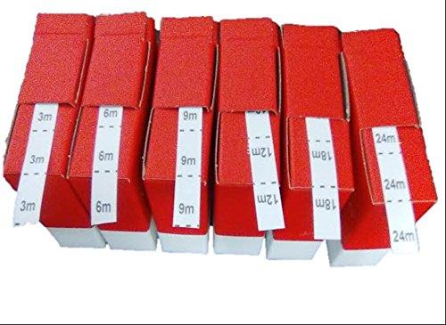 Etiquetas para coser Tallas 3m,6m,9m.12m,18m,24m