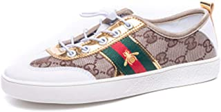 Classic Canvas Shoes Women Fashion Bee Embroidered Sneakers