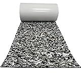 yuanjiasheng EVA Espuma Cubierta de Teca para Pisos Pisos Marinos Alfombra Adhesiva Negro Gris Camuflaje 94.5'x 23.6' Yate en Relieve Material Antideslizante Estera
