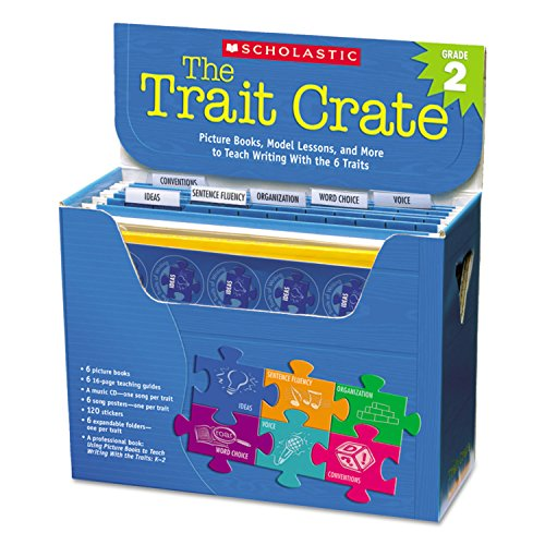 Scholastic Trait Crate, Grade 2, Six Books, Learning Guide, CD, More (SHS054507472X)