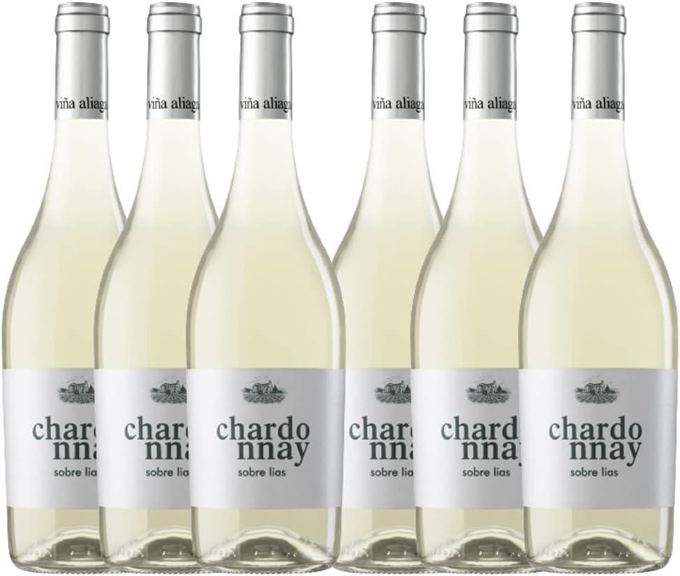 Aliaga Chardonnay sobre lias (Pack de 6 botellas) Vino blanco de Navarra de la Bodega Viña Aliaga. 100% Chardonnay …