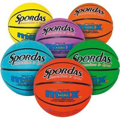 Generic Ballons Basket Ball Taille 5 22cm Coloris Assortis - Sachet De 6