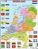 Larsen K53 Niederlande, Politische Karte, Niederländisch Ausgabe, Rahmenpuzzle mit 48 Teilen